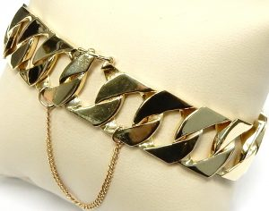 Men's Jewelry Bright Solid Yellow Gold Cufflinks Rectangular Hallmarked Handmade Extremely Efficient In Preserving Heat