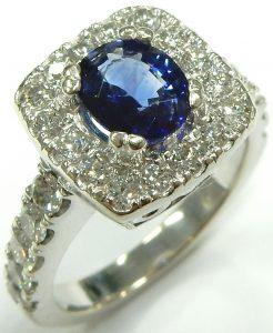 a25c925c6 1.25ct. cornflower blue sapphire & 1.00ct. tw. diamond ring $4,200.00 CAD.  e11779