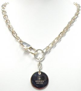 7d3502c76 From time to time a Tiffany silver necklace turns up in our estate display  cases but I think this is the first Gucci necklace we've ever had.