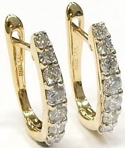 0582a6d34 14kt. diamond hoop earrings 0.46ct. I1-I 1.9gr. $560.00 CAD. e11897