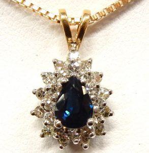 d49f094cb 14kt. diamond & sapphire pendant earring set 2.18ct. tw. 9.1gr. $1,260.00  CAD. e11994