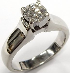 2fae76e3bcc10 0.75ct. SI1-IJ very good cut solitaire 7.0gr. 18kt. white gold  3