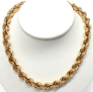 d444aee4b 30 inch, 7.25mm 10kt. gold hollow rope necklace 40.9gr. $1,300.00 CAD.  e11992
