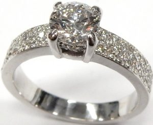 Jewelry & Watches Devoted Diamond Ring Round Shape Authentic 2 Carats Wedding 18k White Gold 4 Prongs Easy To Lubricate