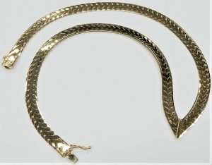 Modern Stylish Matt Silver Flower Design Link Chain Contemporary Short Necklace