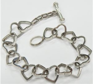 Sterling Silver 7.2 mm Wide Curb Chain 8 1//2 Inch Long